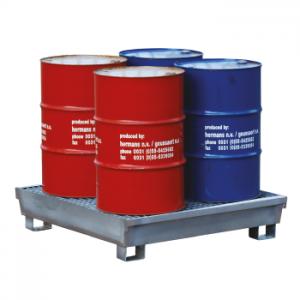 olieafval.nl Opvangbak voor 4 oliedrums van 200 liter